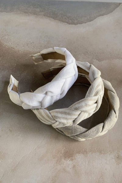Braided Linen Headband pretty_linen_com