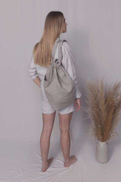 Diana Natural Linen Bag pretty_linen_com