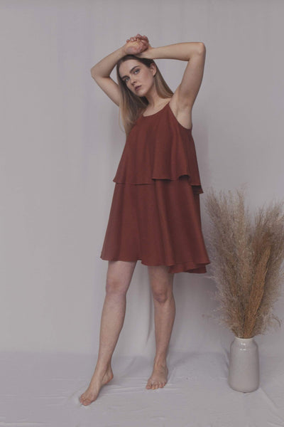 Jessica Short Summer Linen Dress pretty_linen_com