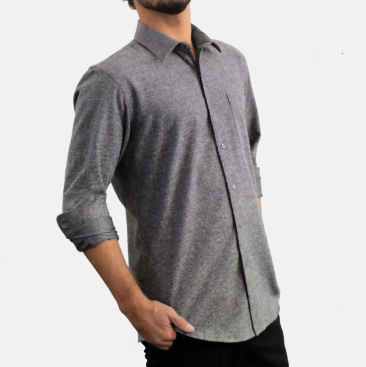 Ekzo Flannel Shirt // Heather Graphite
