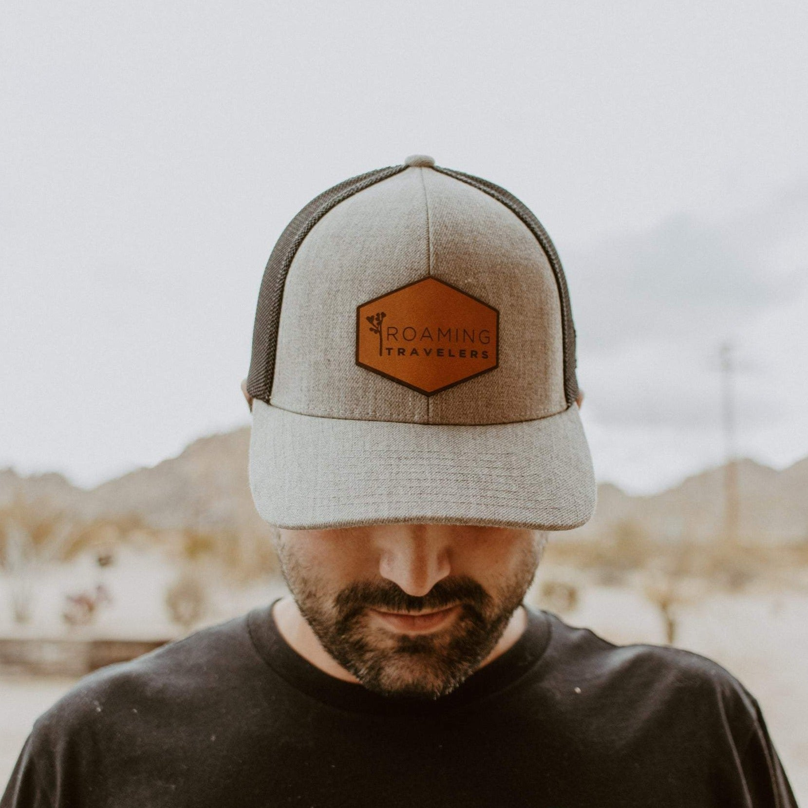 Roaming Travelers Leather Patch Hat