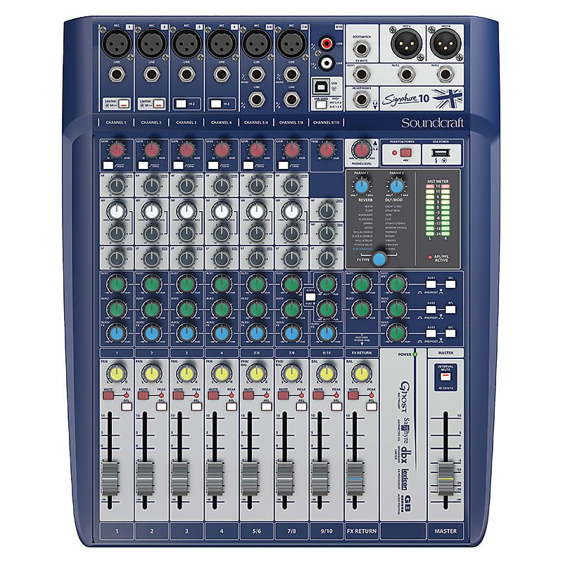 Soundcraft Analog Mixer- Signature 10