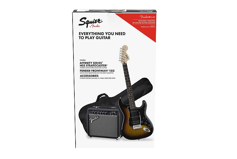 Squier Affinity Series Stratocaster HSS Pack- Brown Sunburst