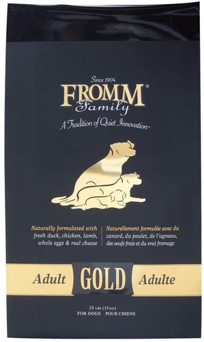 Fromm gold adult dog black bag