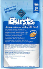 Load image into Gallery viewer, back of package label of Blue buffalo bursts cat treats chicken flavor