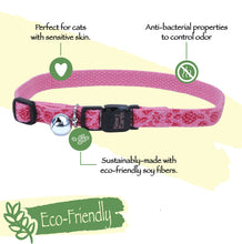 Load image into Gallery viewer, New Earth Soy Breakaway Cat Collar - Cranberry with Arrows