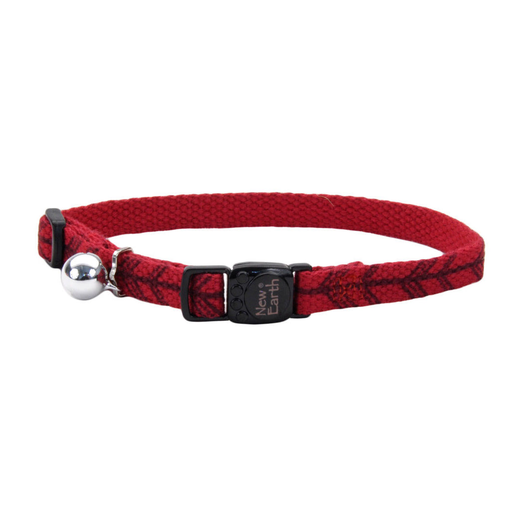New Earth Soy Breakaway Cat Collar - Cranberry with Arrows