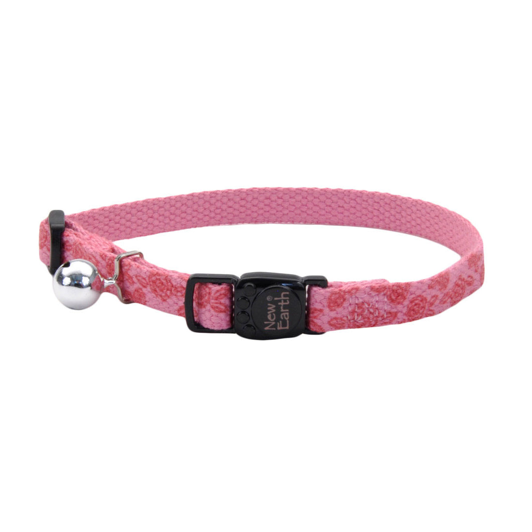 New Earth Soy Breakaway Cat Collar - Rose with Roses