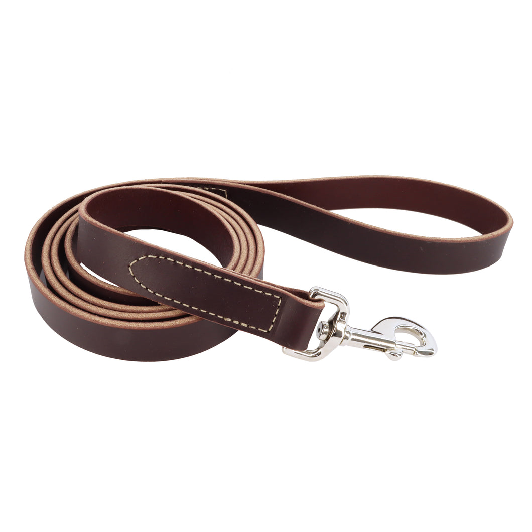 Circle T Oak Tanned Leather Dog Leash, 6 Foot