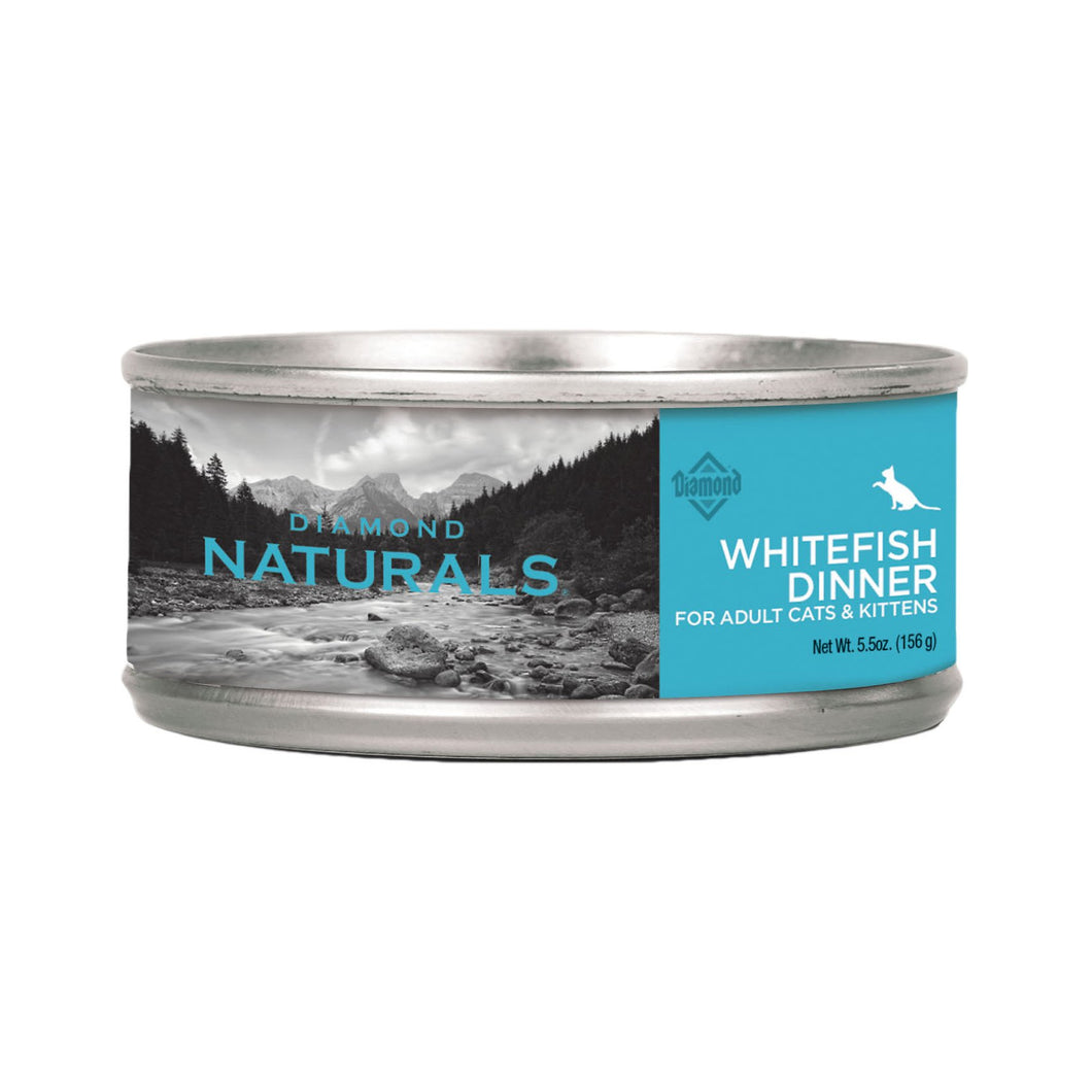 Diamond Naturals canned whitefish dinner for cats and kittens 5.5oz can