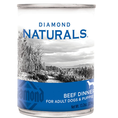 13.2oz Can of Diamond Naturals Beef Dinner for dogs and puppies