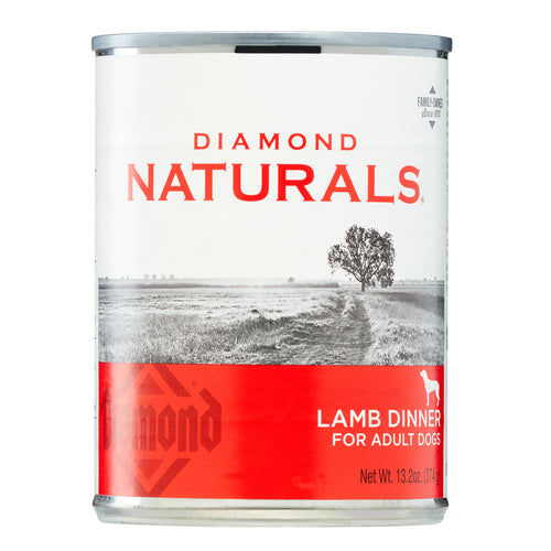 13.2oz Can of Diamond Naturals Lamb Dinner for adult dogs