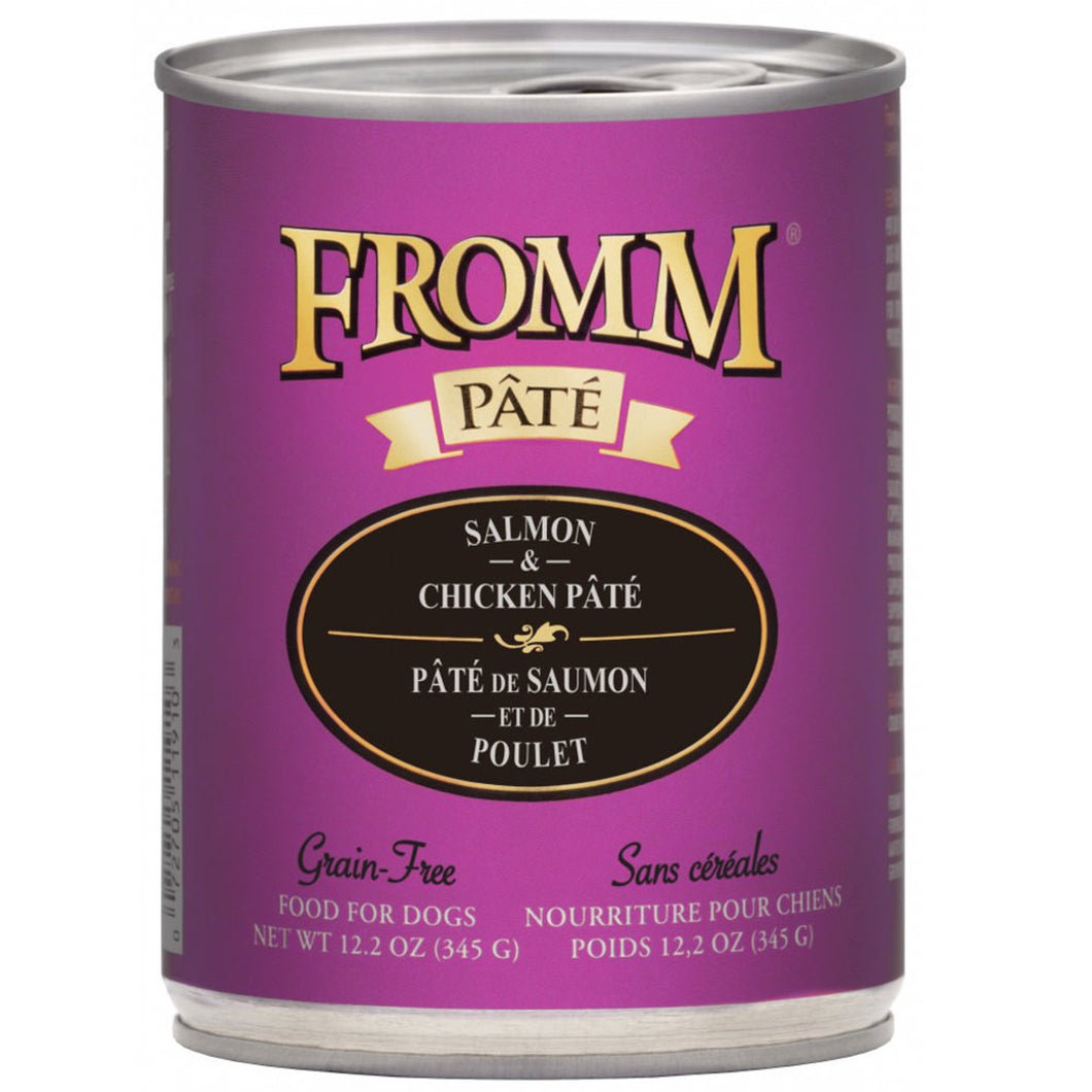 12.2 ounce Fromm Grain-Free Salmon & Chicken Pate for dogs