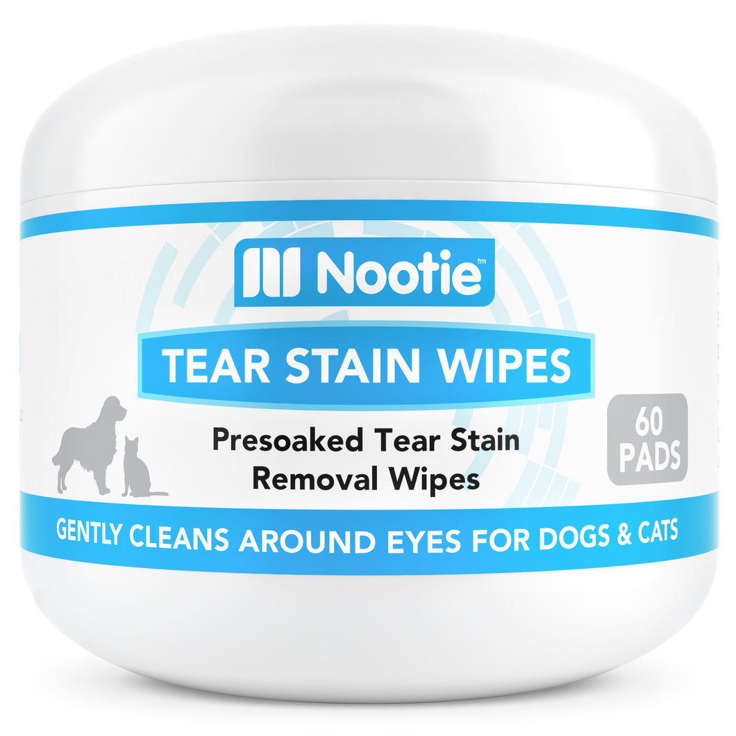 Nootie gentle tear stain wipes for dogs and cats puppies and kittens