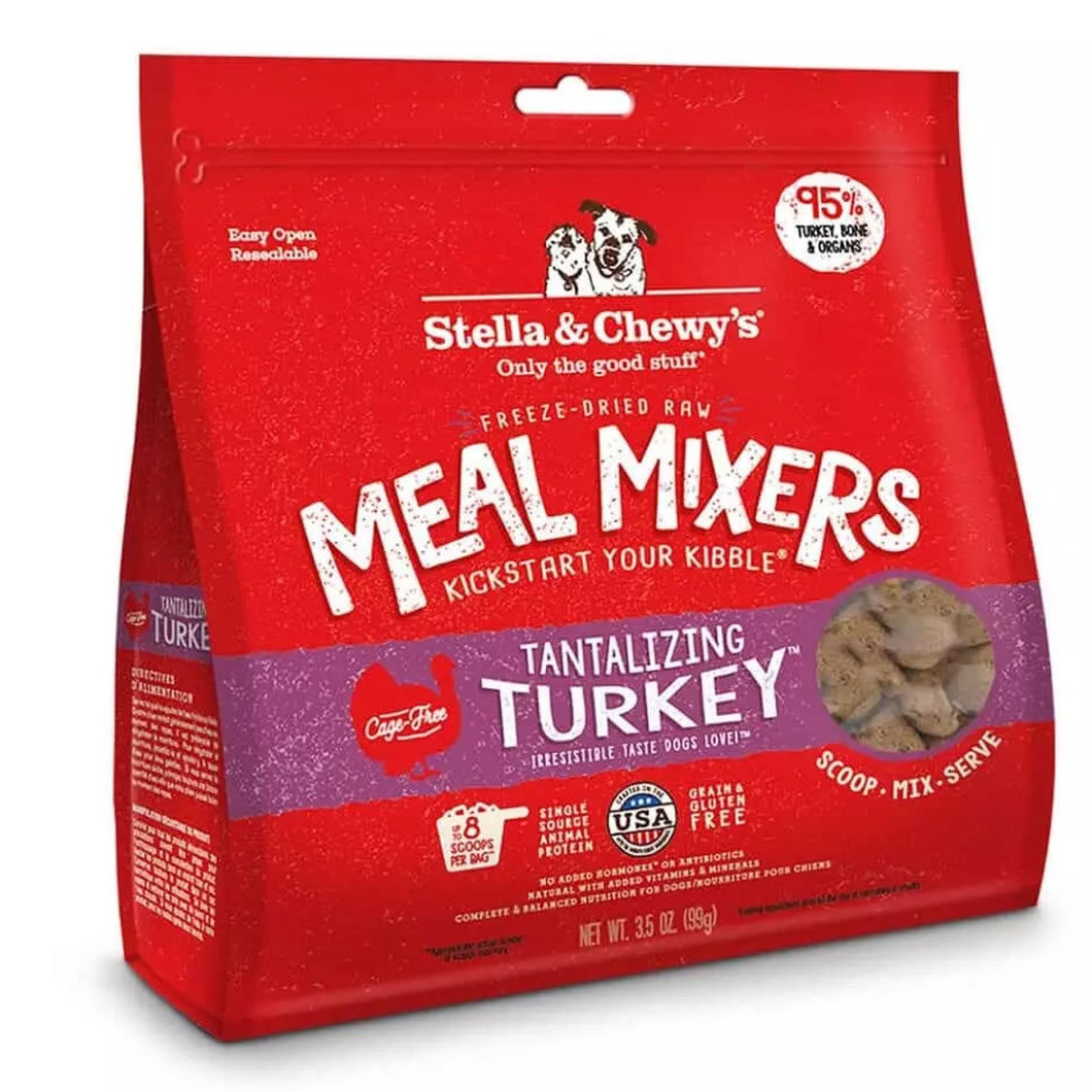 stella & chewys freeze dried raw meal mixers in turkey for dogs and puppies