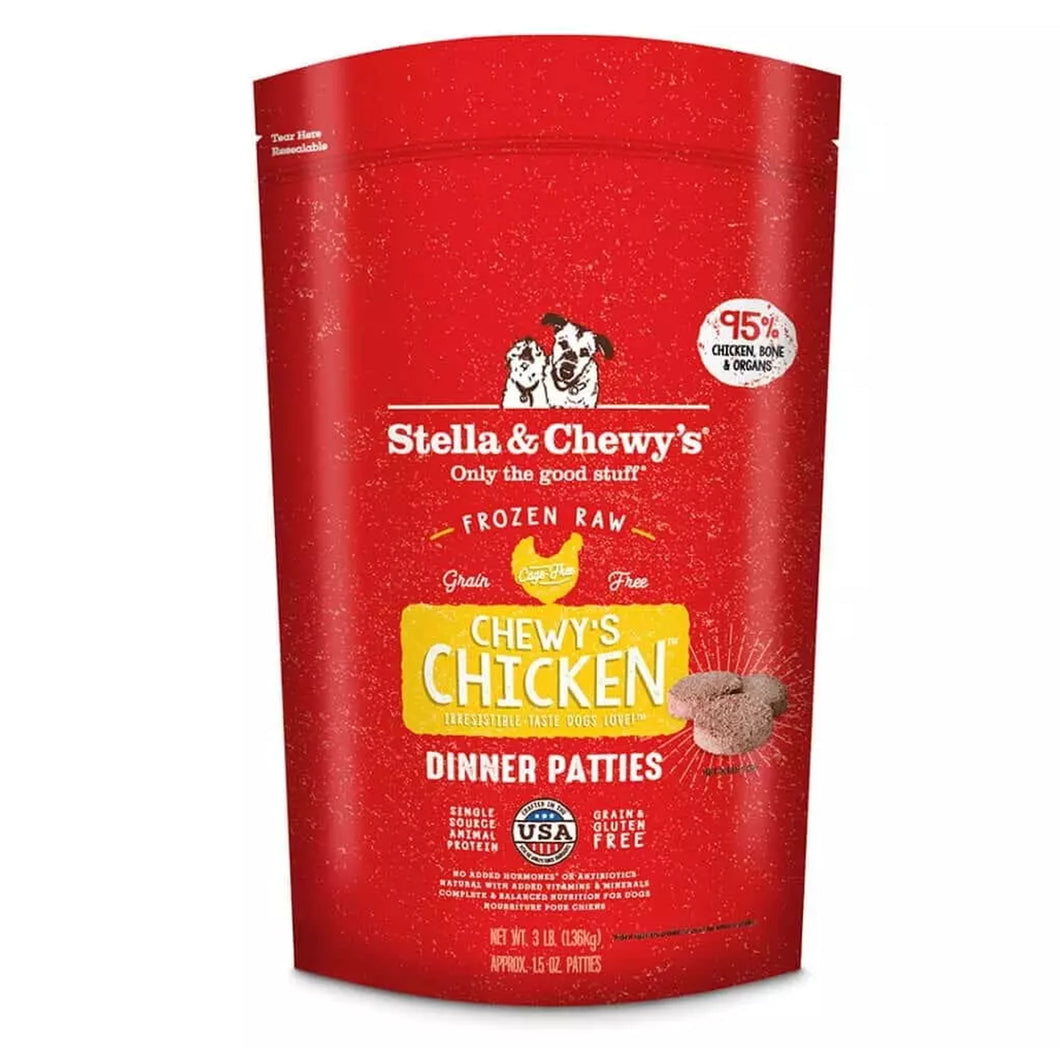 stella & chewys frozen raw chicken morsels for dogs and puppies