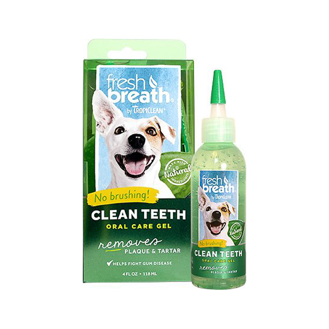 Tropiclean Fresh Breath Oral Care Clean Teeth Gel