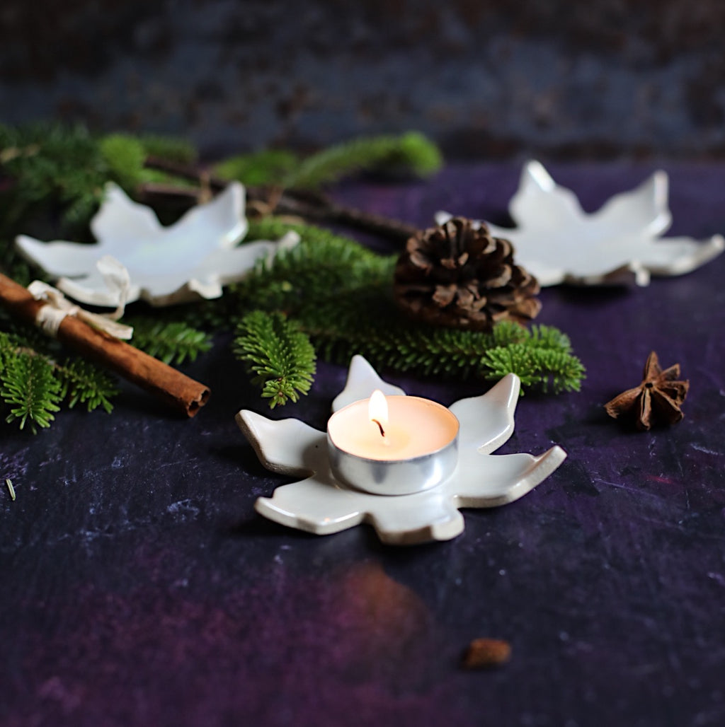 Snowflake Tea light holder/ dish