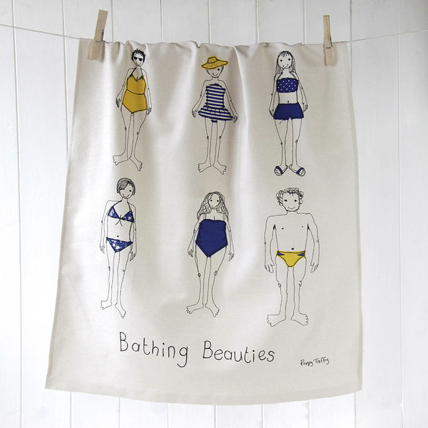 Bathing Beauty Tea Towel
