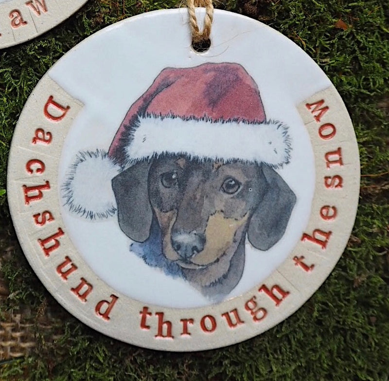 Dachshund Christmas Decoration