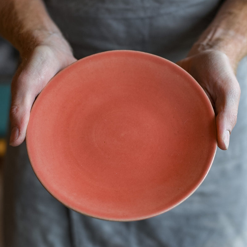 Coral Pink handmade plates