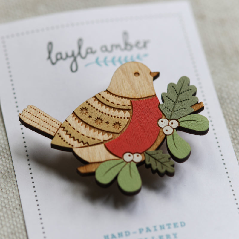 Christmas Robin Brooch