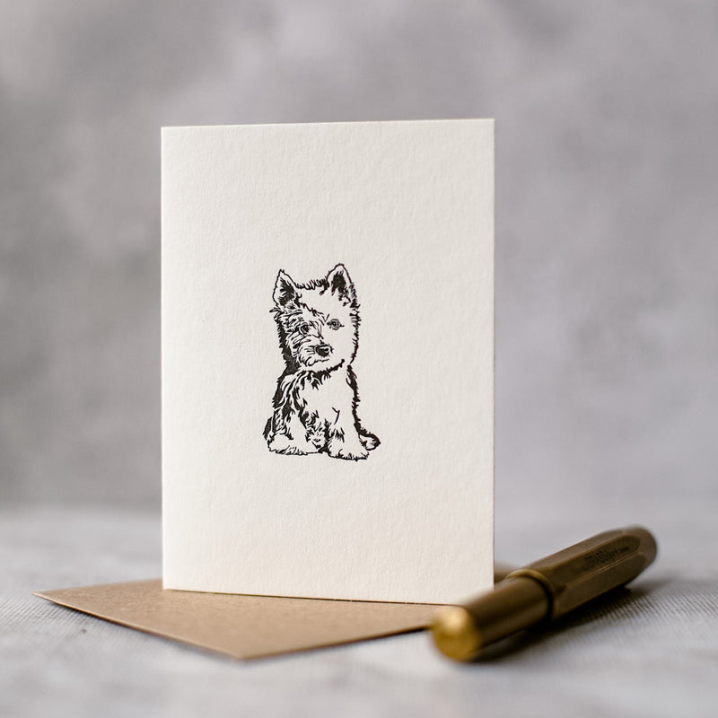 West Highland Terrier Card
