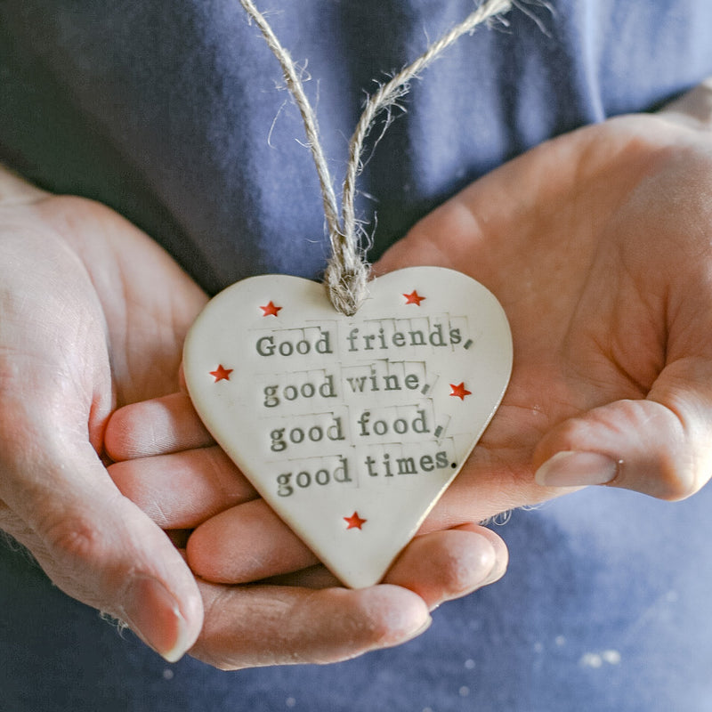Good friends- Quote heart