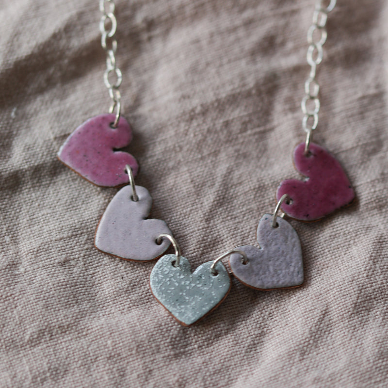 Five Heart Necklace