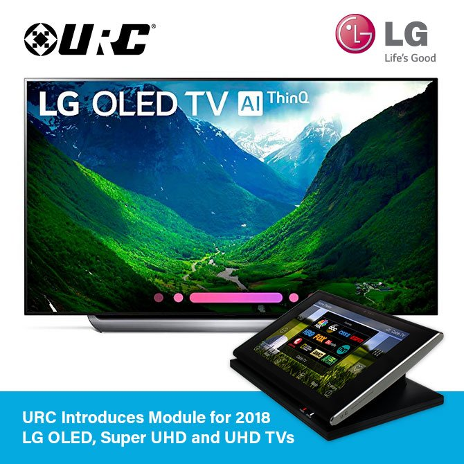 URC Introduces Model for 2018 LG OLED, Super UHD and UHD TVS