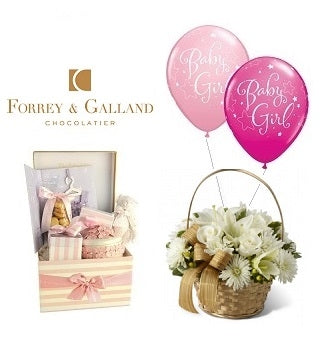 New Born Girl Chocolate Hamper Dubai