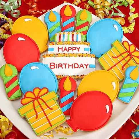 Colorful Birthday Cookies - Dubai
