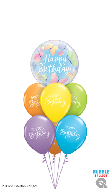 Butterfly Colorful Birthday Balloons Dubai