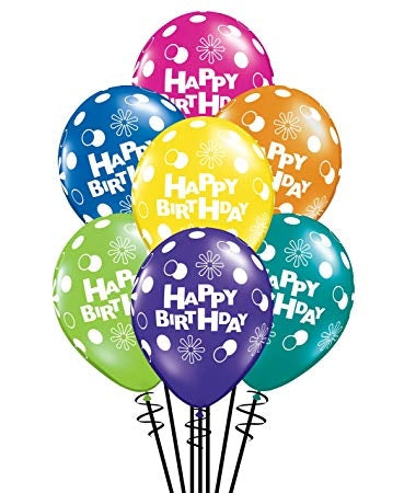 Colorful Latex Happy Birthday Balloon Dubai