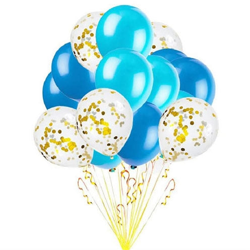 Blue & Gold Celebratory Balloon Gifts UAE