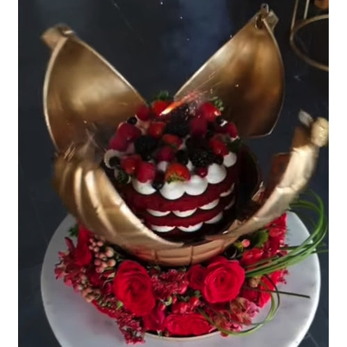 Bomb Explosion Box with Roses Cake Dubai
