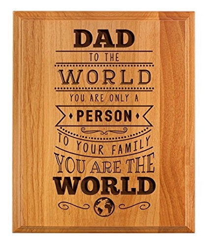 'Dad You Are The World' Wooden Frame - Dubai