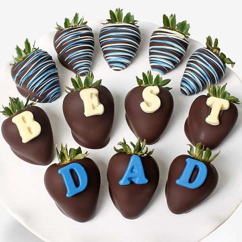 'Best Dad' Chocolate-Dipped Strawberries - Dubai
