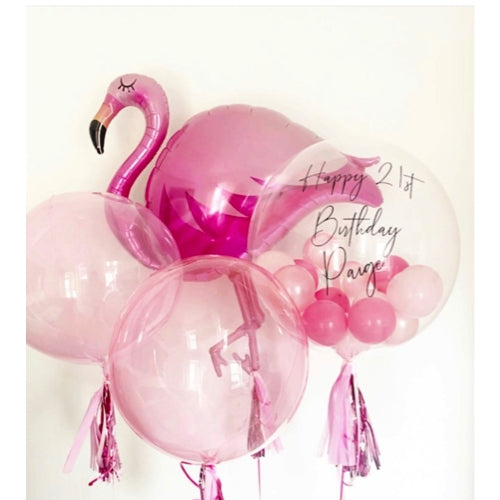 Flamingo bubble Balloon Dubai