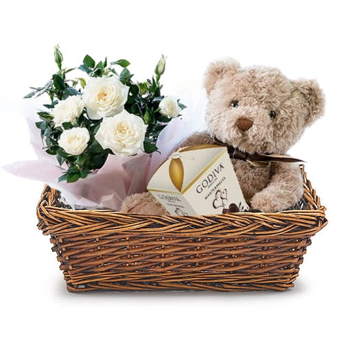 Chocolate, Flowers and Teddy Gift Dubai