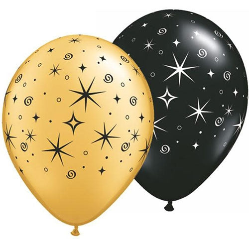 Black & Gold Balloon Gifts Dubai