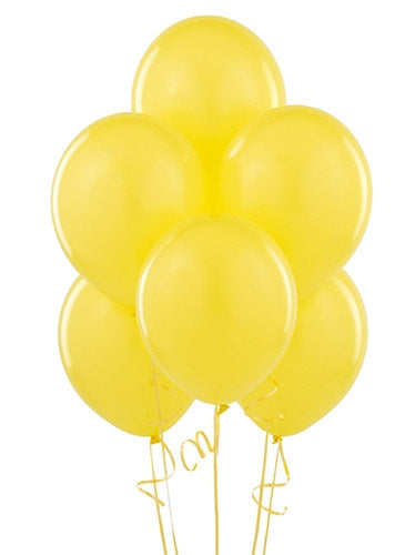 Yellow Helium Inflated Latex Balloons Dubai