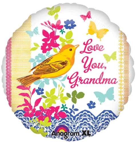 Love You Grandma Foil Balloon - Dubai