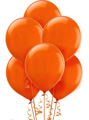 Orange Helium Balloons Dubai