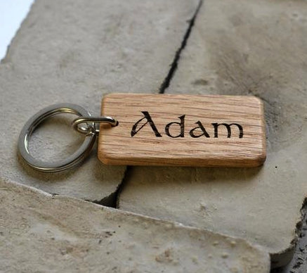 Personalized Wooden Key-chain With Photo - Dubai