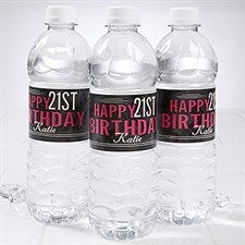 Personalized water bottle label Dubai