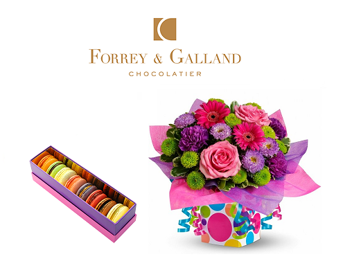 Macarons and Flower Gifts Online Delivery Dubai
