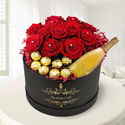 24k Gold Emotion with Ferrero & Roses
