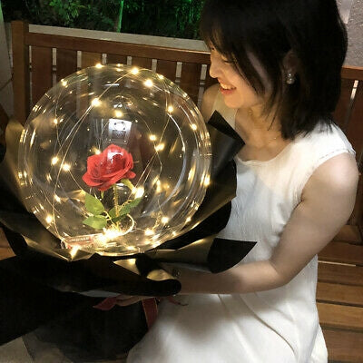 Red Rose Bubble Balloon Bouquet Dubai