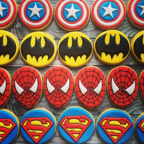 Superhero Cookies - Dubai